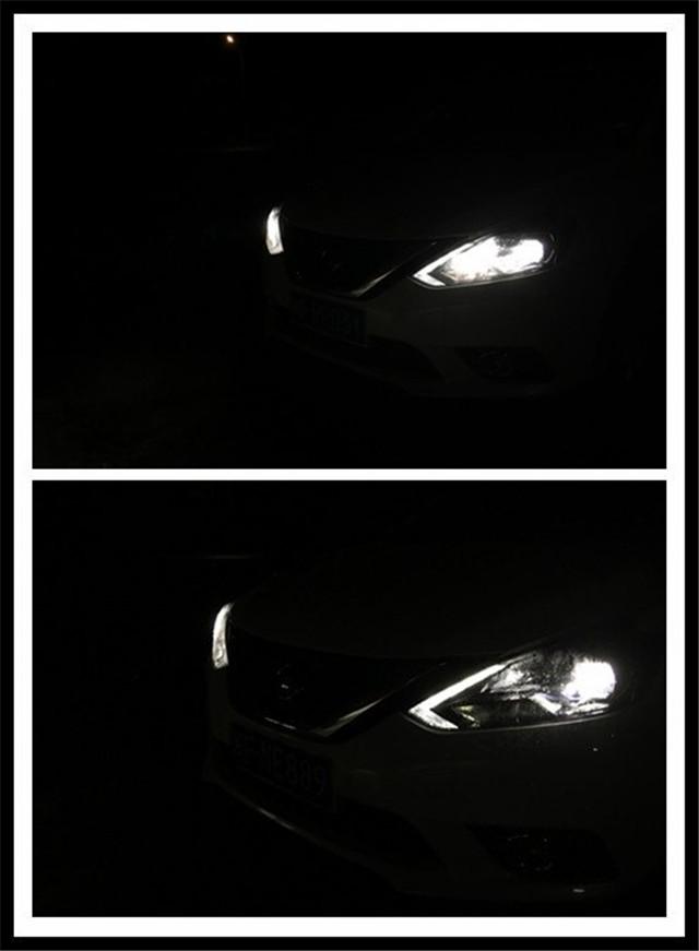 轩逸车灯改装阿帕6S套装4透镜和2透镜对比