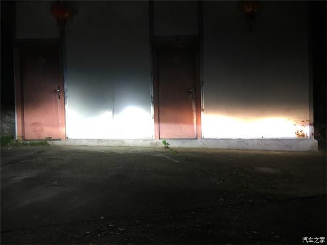轩逸车灯改装改前改后远光对比