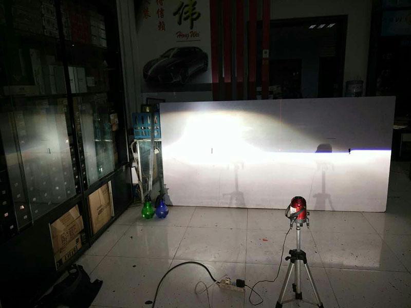日产蓝鸟车灯改装-阿帕6套装 远光测试