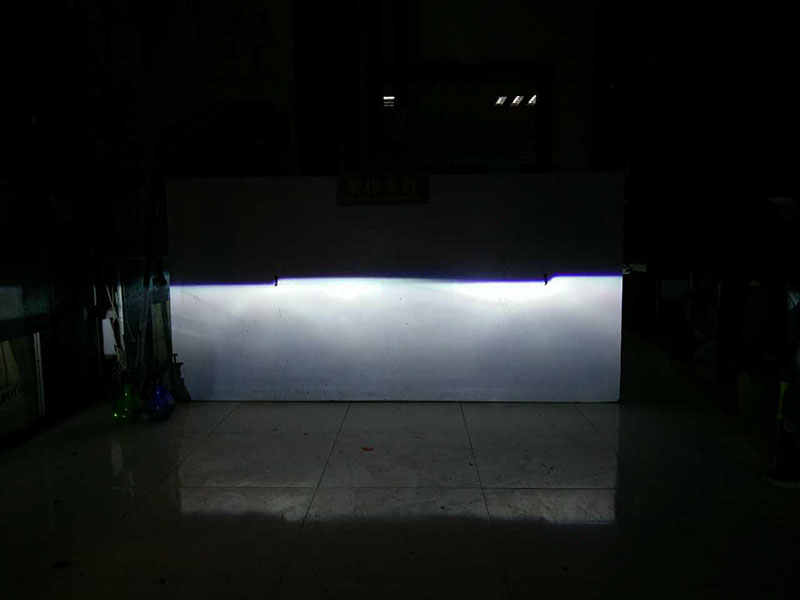 日产蓝鸟车灯改装-阿帕6套装 改后近光效果