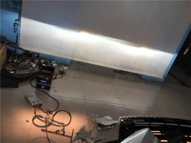 哈佛H6车灯改装阿帕5XV套装-改后近光效果