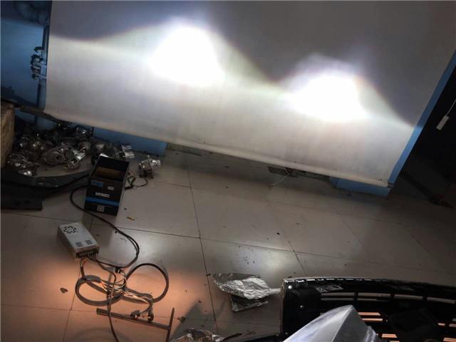 哈佛H6车灯改装阿帕5XV套装-改后远光效果