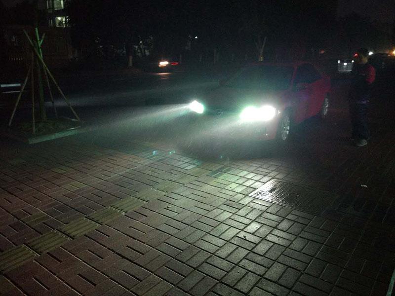 马自达6车灯改装阿帕6改后效果