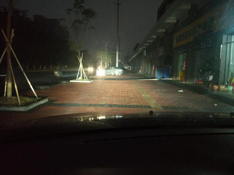 马自达6车灯改装阿帕6改后远光铺路效果