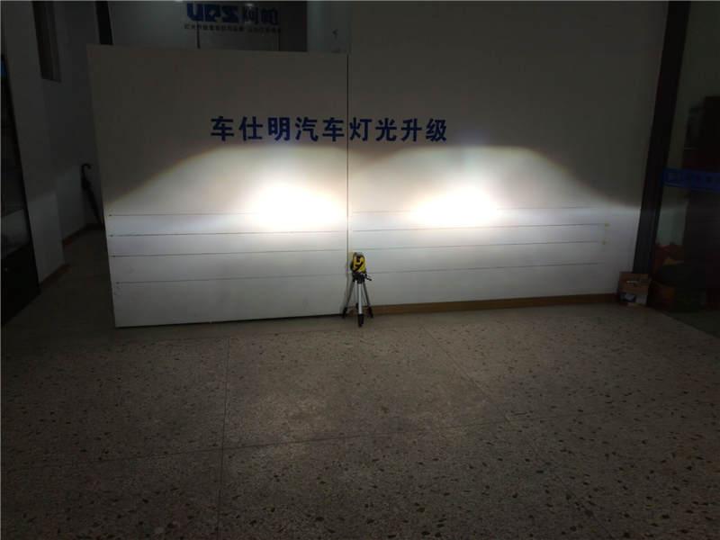 马自达CX-5车灯改装阿帕6-改后远光效果