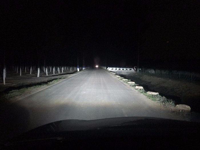 14款卡罗拉车灯升级后的近光效果