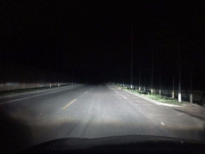 卡罗拉车灯升级阿帕2H氙气灯,近光效果