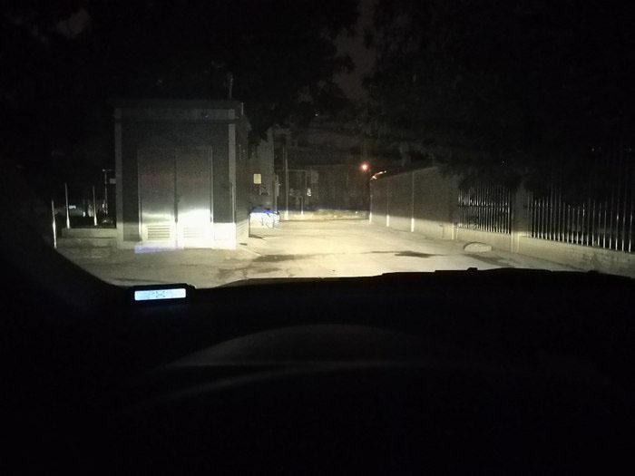 朗动车灯改装阿帕氙气大灯,近光效果