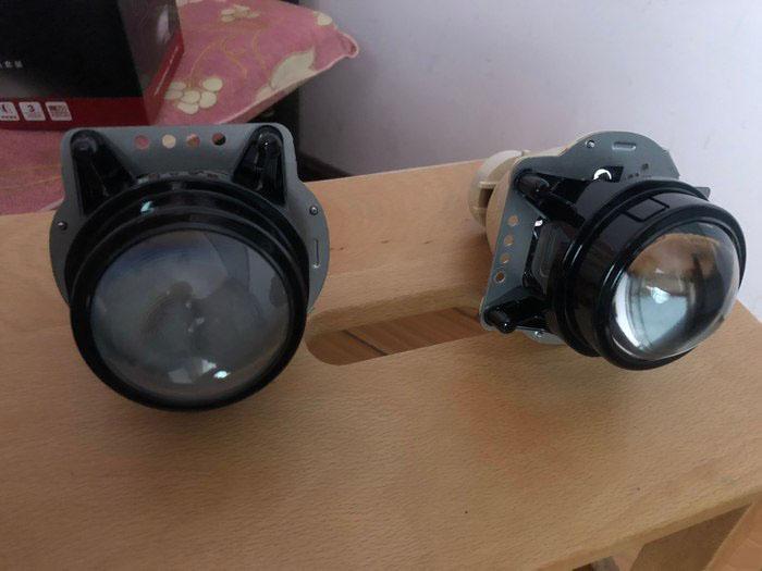 思域原车透镜和阿帕透镜的对比